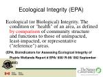 ecological integrity epa