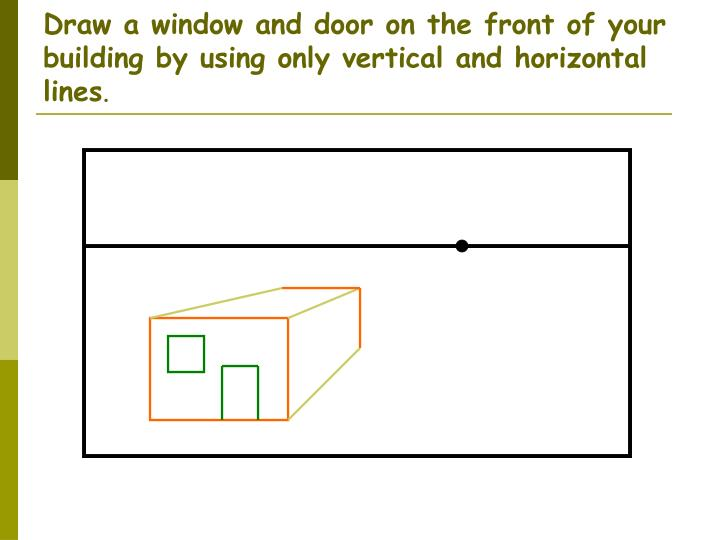 Drawing Using Only Lines : Ppt one point perspective powerpoint presentation id