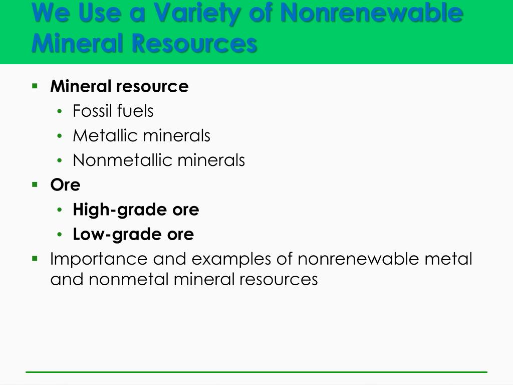 PPT - Geology and Nonrenewable Minerals PowerPoint Presentation - ID
