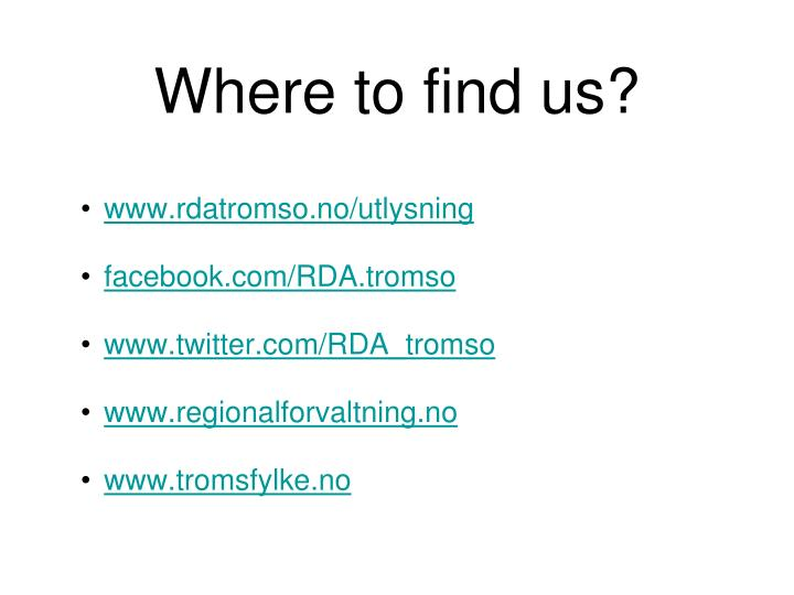Where to find us?