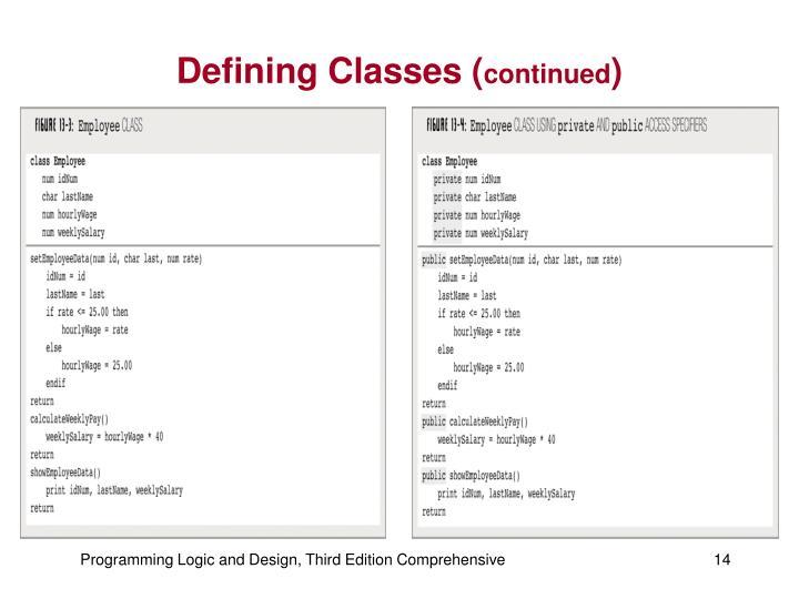 Defining Classes (