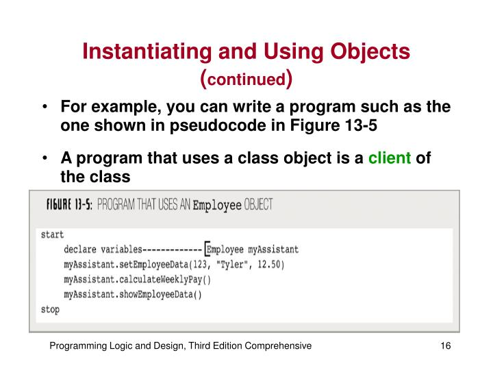 Instantiating and Using Objects (