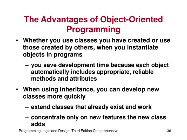 The Advantages of Object-Oriented Programming