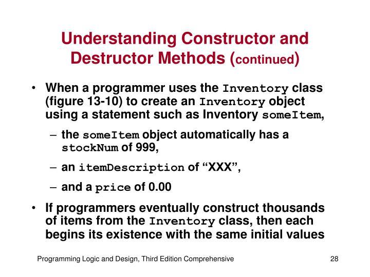 Understanding Constructor and Destructor Methods (