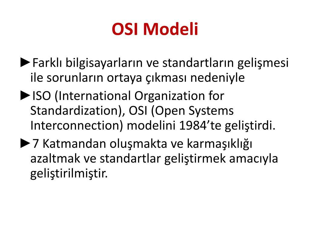 OSI Ağ Modeli