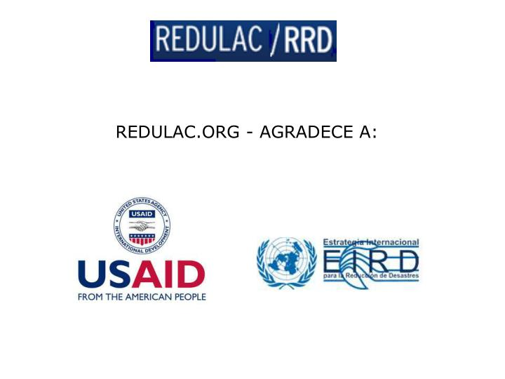 REDULAC.ORG - AGRADECE A: