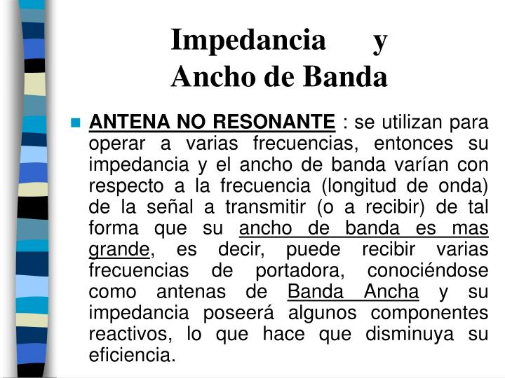 Impedancia      y