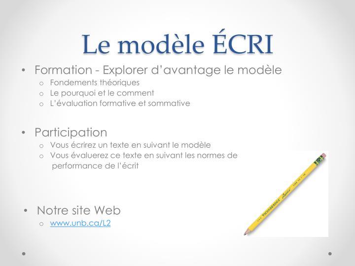 Le modèle ÉCRI