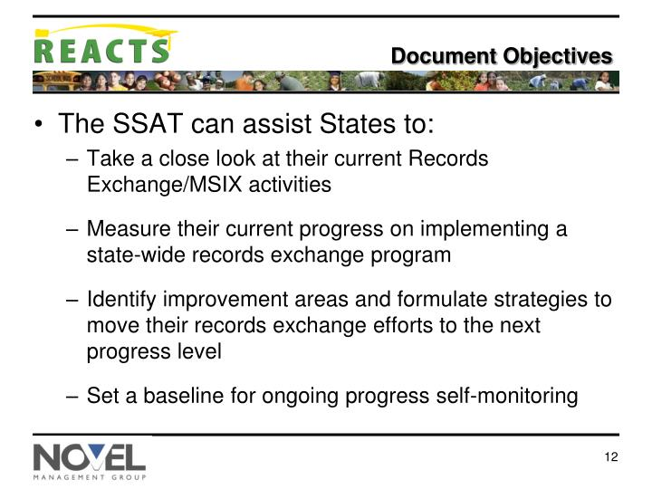 Document Objectives
