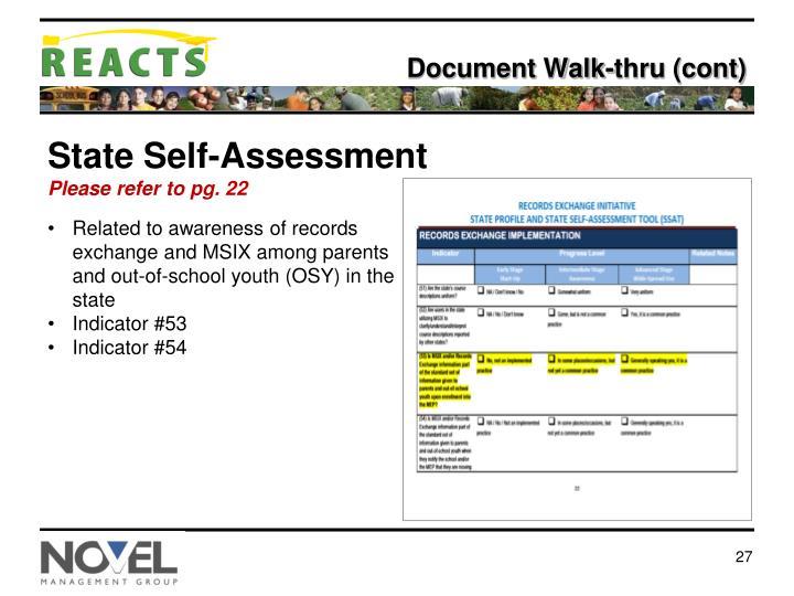 Document Walk-thru (cont)