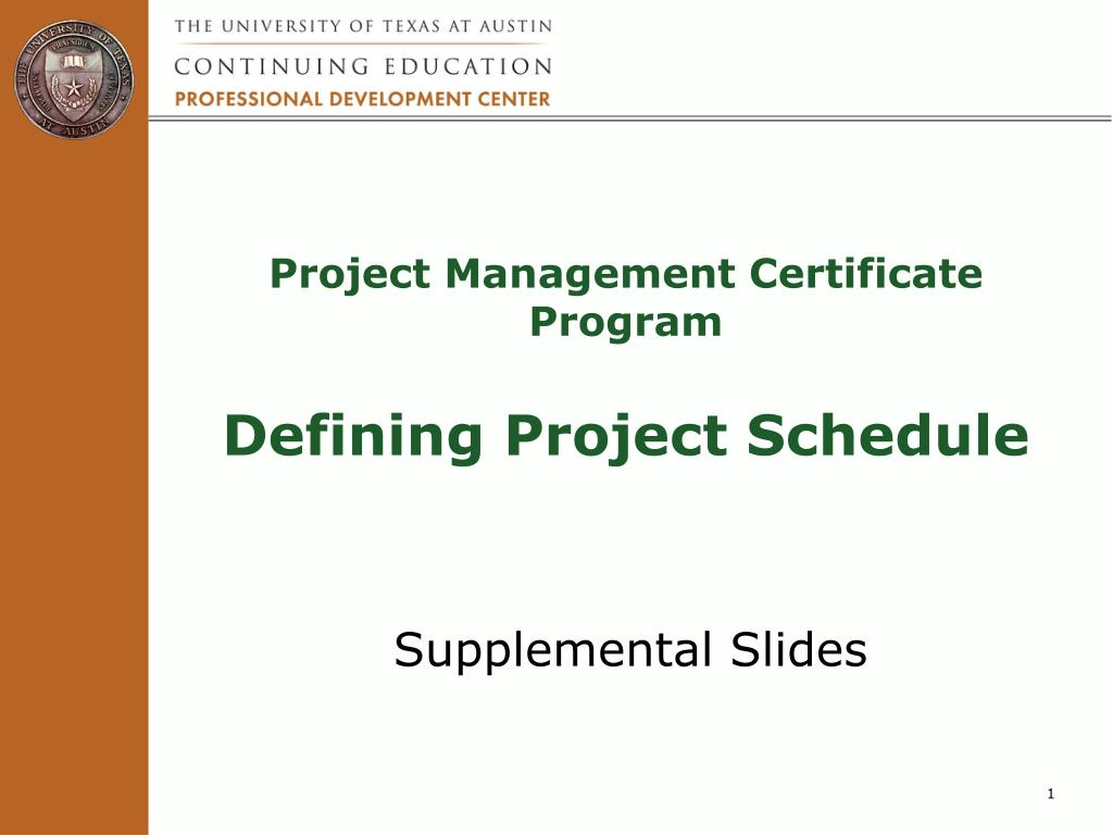 Ppt Project Management Certificate Program Defining Project