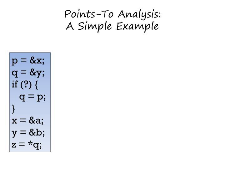 Points-To Analysis: