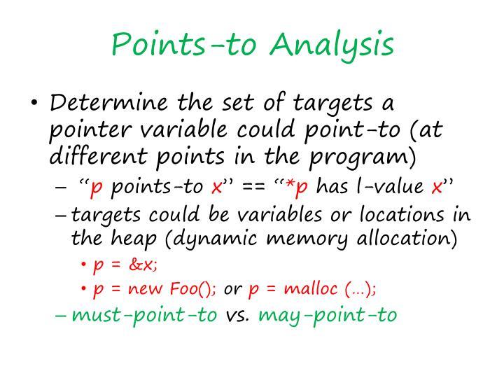 Points-to Analysis