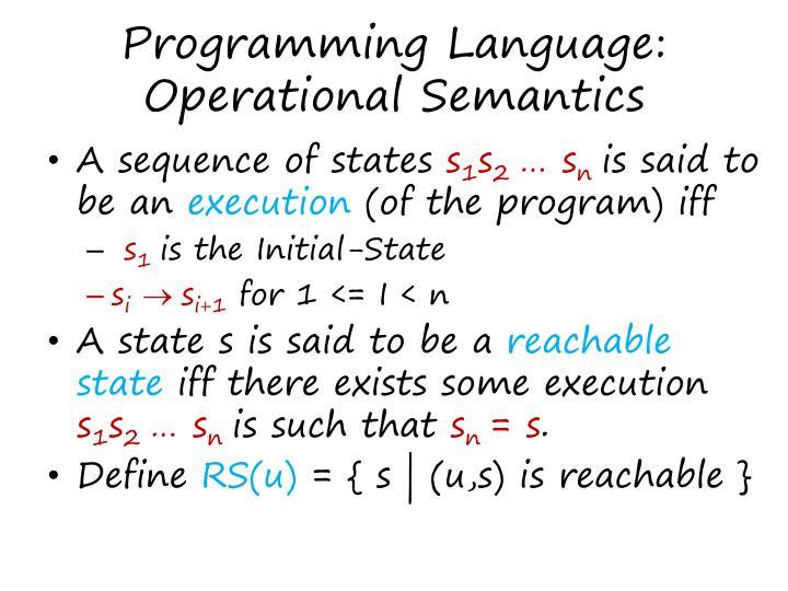 Programming Language: