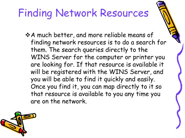 Finding Network Resources