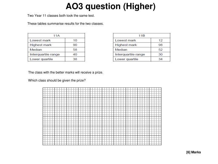 AO3 question (Higher)