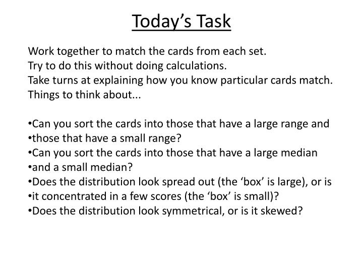 Today's Task