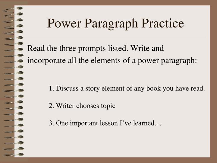 Power Paragraph Practice