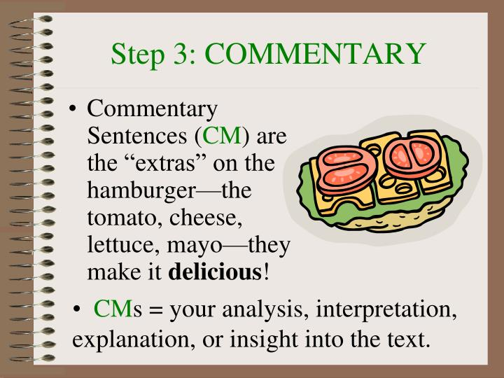 Step 3: COMMENTARY
