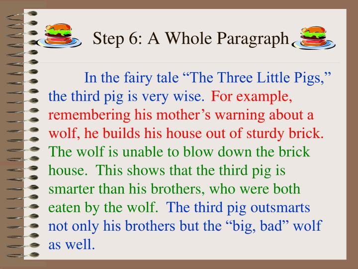Step 6: A Whole Paragraph