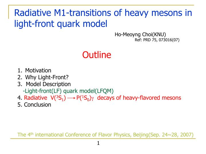 radiative m1 transitions of heavy mesons in light front quark model