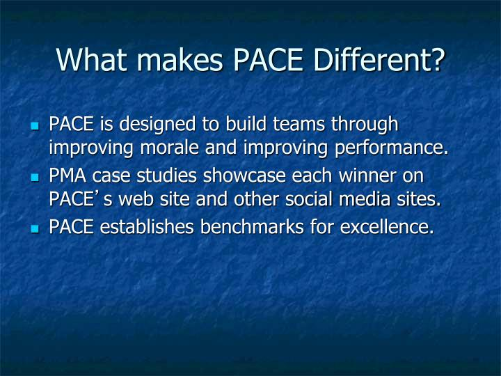 What makes pace different1