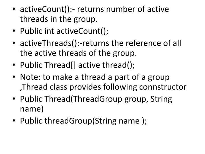 activeCount