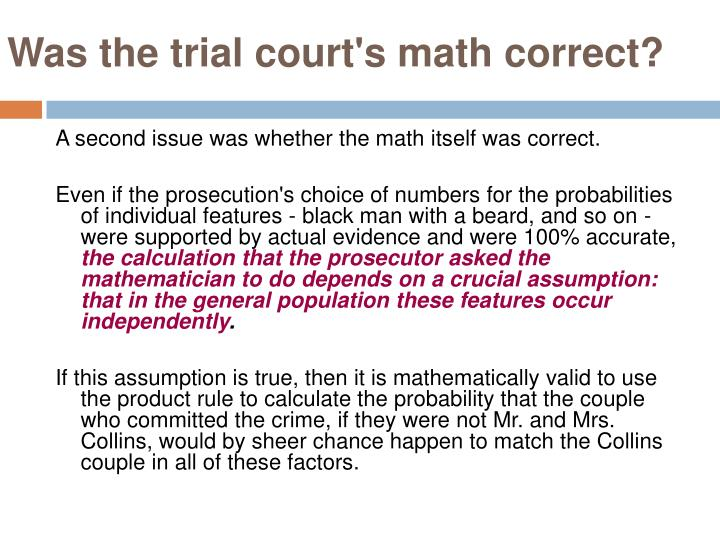 Was the trial court's math correct?
