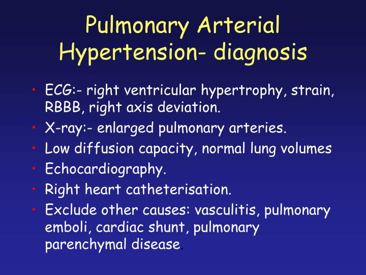 Image Result For Pulmonary Arterial Hypertension Symptoms Causes Diagnosis