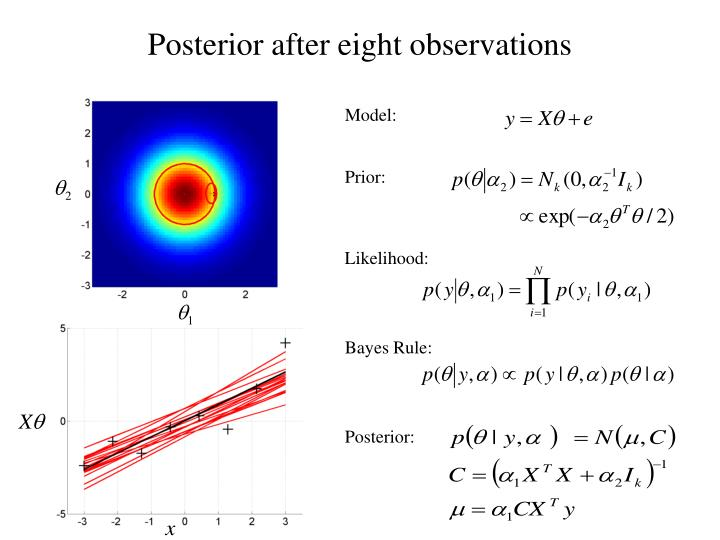 Posterior after eight observations