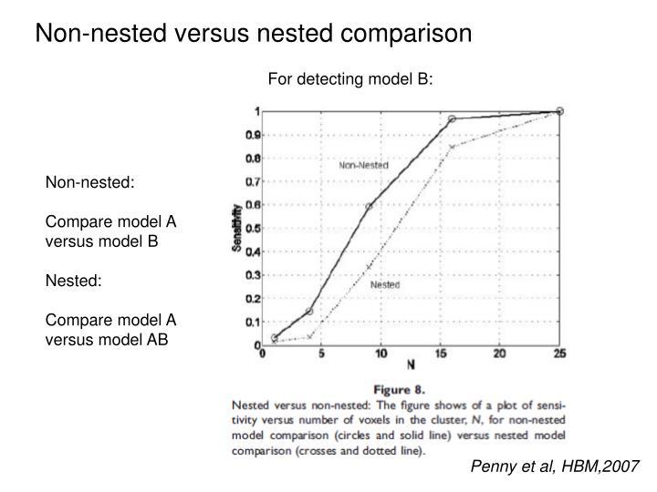 Non-nested versus nested comparison