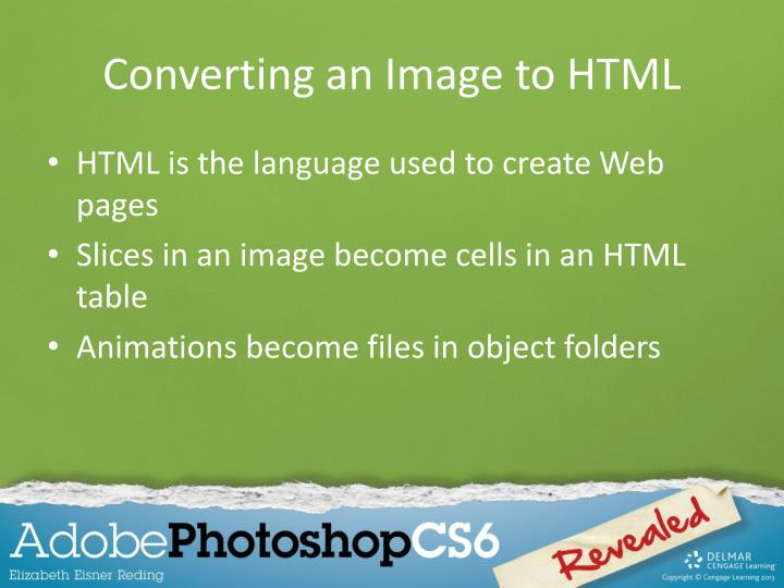 Converting an Image to HTML
