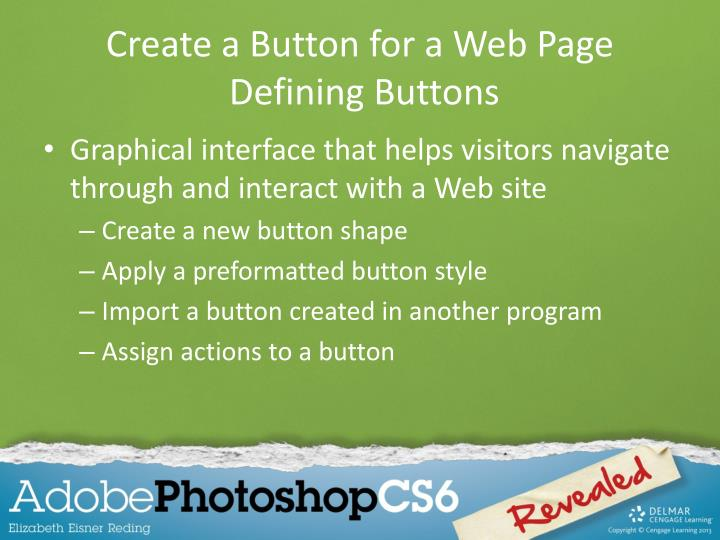 Create a Button for a Web Page