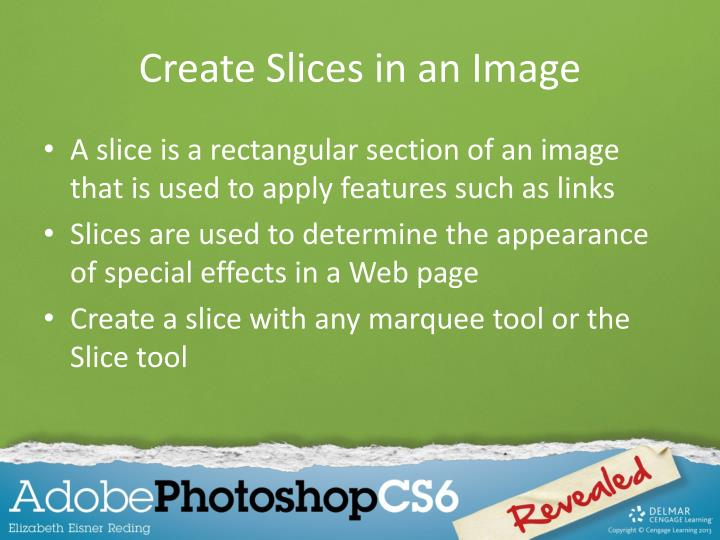 Create Slices in an Image