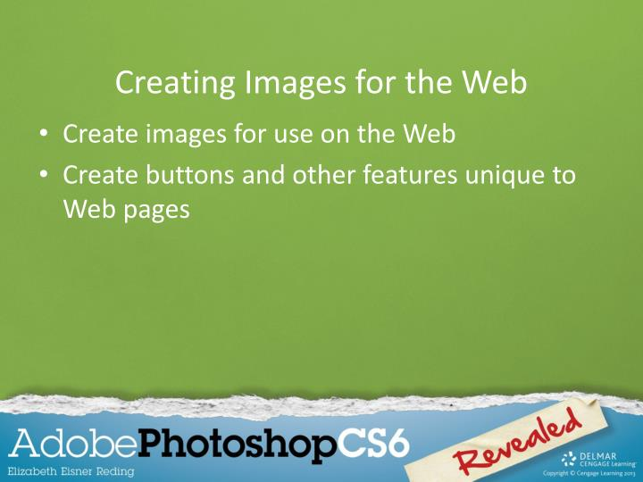 Creating images for the web