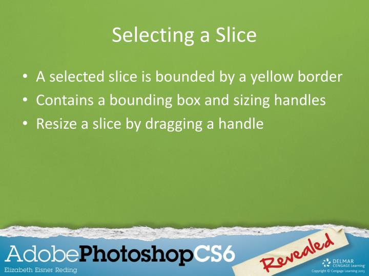 Selecting a Slice