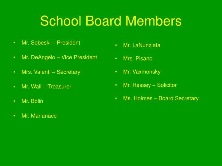 School Board Members