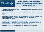 i la evoluci n reciente de la econom a y el empleo en argentina