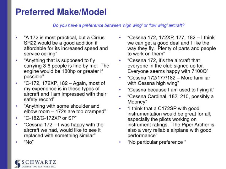 """""""A 172 is most practical, but a Cirrus SR22 would be a good addition if affordable for its increased speed and service ceiling"""""""