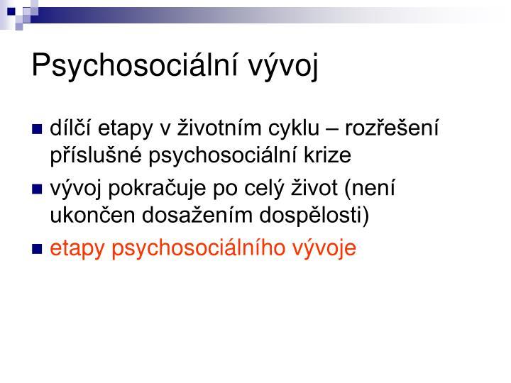Psychosociální vývoj
