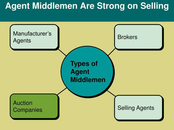 Agent Middlemen Are Strong on Selling