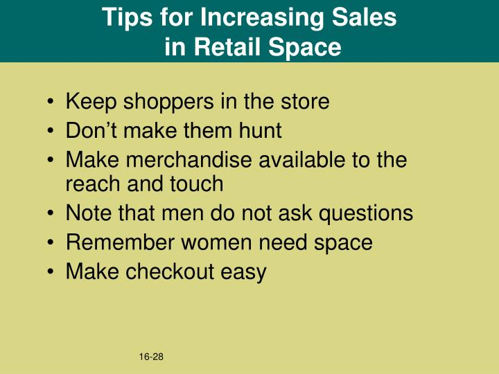 Tips for Increasing Sales