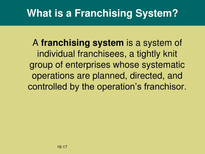 What is a Franchising System?