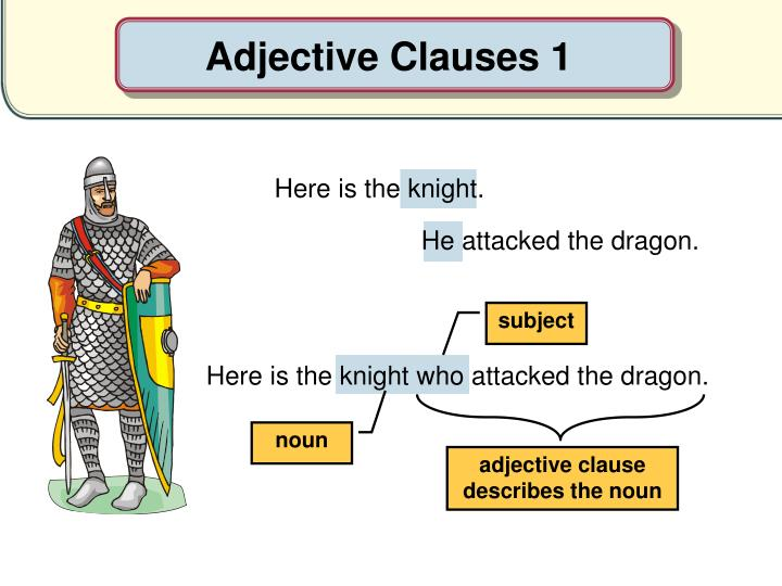 Adjective Clauses 1