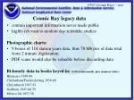cosmic ray legacy data
