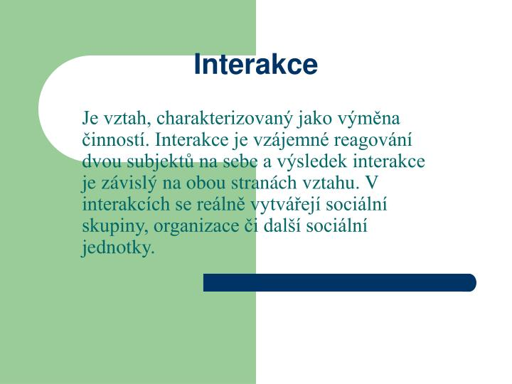 Interakce