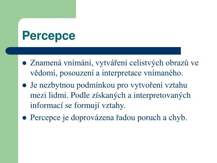 Percepce
