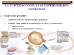 la biotecnolog a y las enfermedades gen ticas1