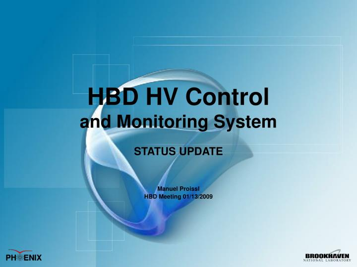 hbd hv control and monitoring system n.