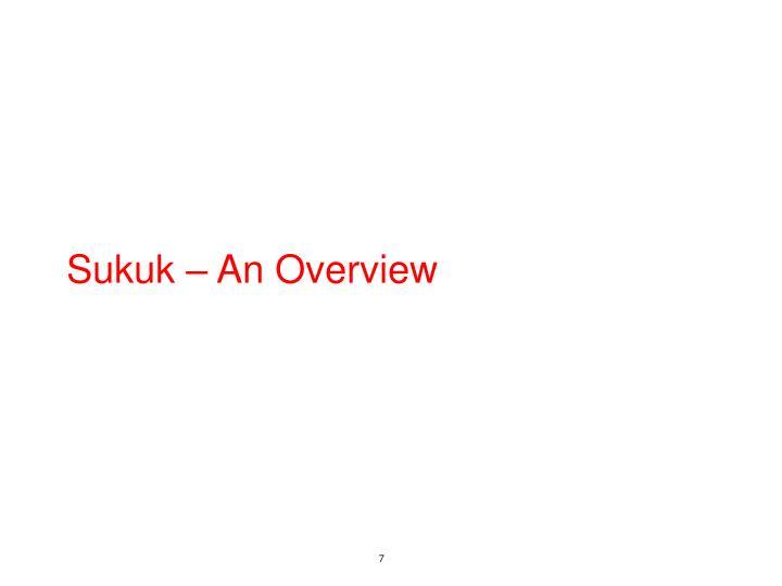 Sukuk – An Overview